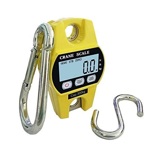 WZ 660Lb 300Kg Bascula Colgante, Mini Electrónicas Báscula Digital Bolsillo Escala De Grúa, por Granja Caza Pescar Peso - Amarillo