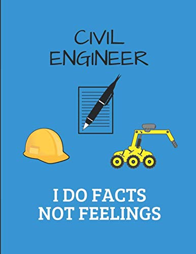 Civil Engineer I Do Facts Not Feelings: 2 in 1 Sketch & Lined Paper Notepad