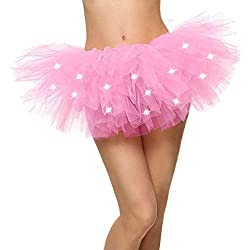 Light Pink LED Light Up Neon Tulle Tutu Skirt
