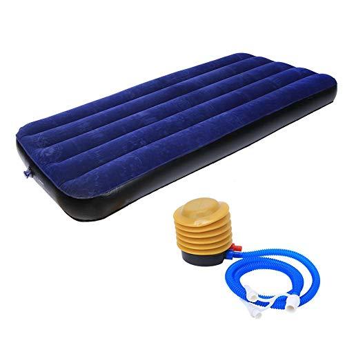 Opblaasbaar matras - Draagbaar eenpersoons luchtbed kussen waterdicht outdoor opblaasbare matras voor reizen, camping, wandelen
