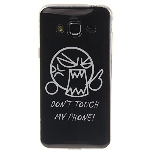 Coque Samsung Galaxy J3, Téléphone étui pour Samsung Galaxy J3, Anlike Flexible protection en Soft TPU Silicone Shell Etui Housse de Protection Coque Etui Silicone Transparente housse etui case cover pour Samsung Galaxy J3 /J310 (5,0 pouces) - Don't Touch My Phone