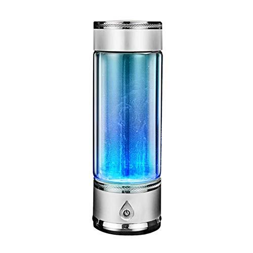 Botella de agua rica en hidrógeno Ionizador alcalina de alta concentración de calidad Generador de agua de hidrógeno Taza de vidrio de salud para agua pura,Silver