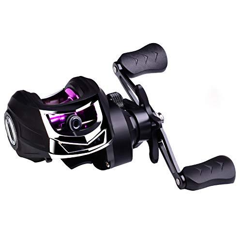 Liadance Accesorios De Pesca Carrete De La Pesca De Rotación 7: 2: 1 Relación De Engranajes De La Mano Derecha para La Pesca Púrpura Rm10