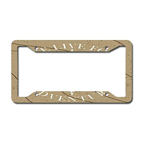 Brown Nautical Anchor License Plate Frame, Decorative Car Front, Metal Car Plate, License Plate, Vanity Tag, Aluminum Noverlty License Plate for Men/Women/Boy/Girls Car 6.3 X 12.2 Inch