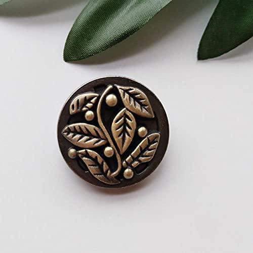 10 botones de metal de latón antiguo en un agujero redondo botones para ropa, decoración de artesanía de moda, 24 mm de alta calidad por defecto