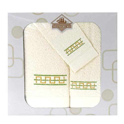 Westward Ho! 1133GN Destino - Juego de toallas (3 piezas, 1 unidad), color verde