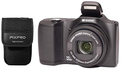 petit un compact KODAK Pixpro – FZ102 – Appareil photo numérique compact 16,5 mégapixels dans son boîtier – Noir-Noir-