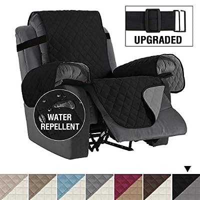 "H.VERSAILTEX Reversible Recliner Cover Recliner Slipcover Recliner Furniture Protector 2"" Elastic Strap Slip Resistant Water Repellent Slipcover"