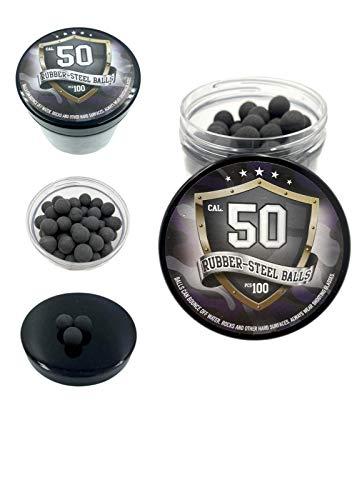 SSR 100 x Bolas Acero de Gomma Maciza Ram Paintball Rubberballs HDR 50 T4E .50 Calibre