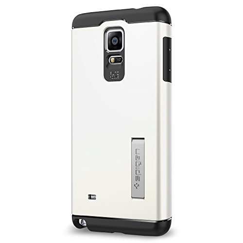 Spigen Slim Armor Galaxy Note 4 Case with Air Cushion Technology and Hybrid Drop Protection for Samsung Galaxy Note 4 2014 - Metal Slate