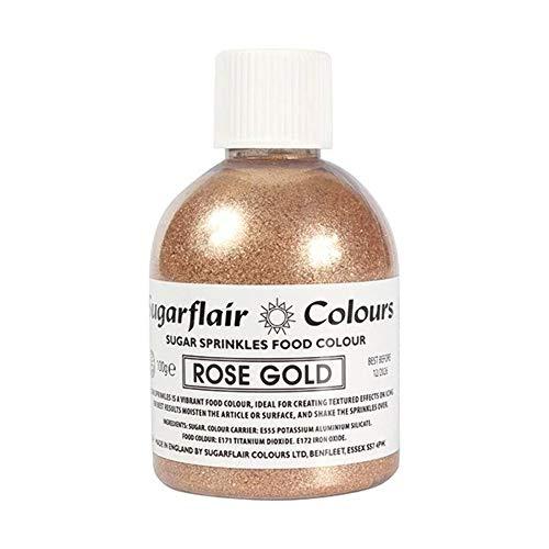 Rose Gold Sugar Shaker - Sugarflair Sugar Sprinkles Food Colour