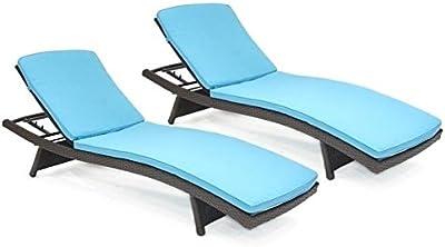 Amazon.com: Jeco – Ajustable chaise tumbona en Espresso de ...
