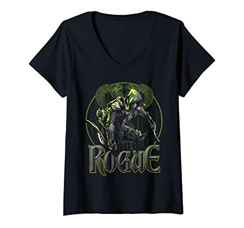 Womens Elven Rogue Assassin Fantasy Roleplaying Dungeons RPG Gamers V-Neck T-Shirt