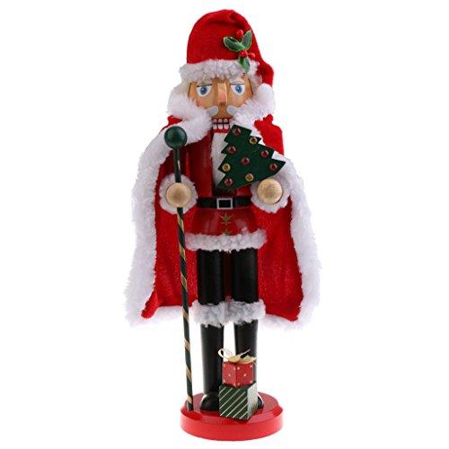 SM SunniMix 36cm Casse-Noisettes en Bois Décorations de Noël - Père de noël