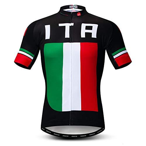 Weimostar Radfahren Jersey Herren Radfahren Kleidung Fahrrad Jersey Top Mountain Road MTB Jersey Shirt Kurzarm Atmungsaktive Team Sport Italien Multi Größe M