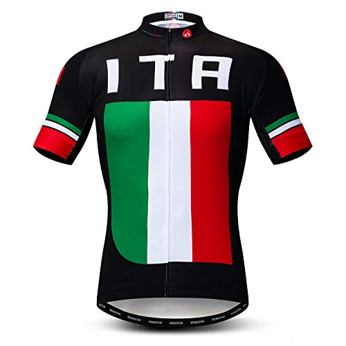 Weimostar Radfahren Jersey Herren Radfahren Kleidung Fahrrad Jersey Top Mountain Road MTB Jersey Shirt Kurzarm Atmungsaktive Team Sport Italien Multi Größe XL