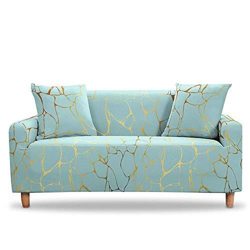 Vlejoy Sofa Abdeckung Elastische Schonbezüge Sessel Schonbezüge Esszimmer Stretch Sofabezüge Marmor Sofabezug-2 Sitzer (145-185cm) _Color-Y