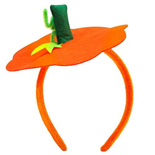 Halloween Pumpkin Headband Halloween Costume - Farochy Halloween Dress Up Headband Pumpkin Headwear Pumpkin Headdress Orange
