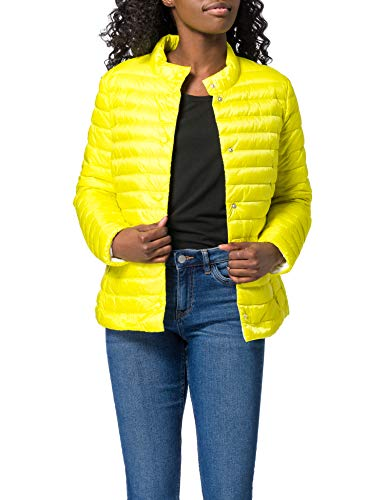 Geox W MYLUSE SHORT JKT - T2562 + T DOWN JACKET, Mujer, YELLOW FLUO