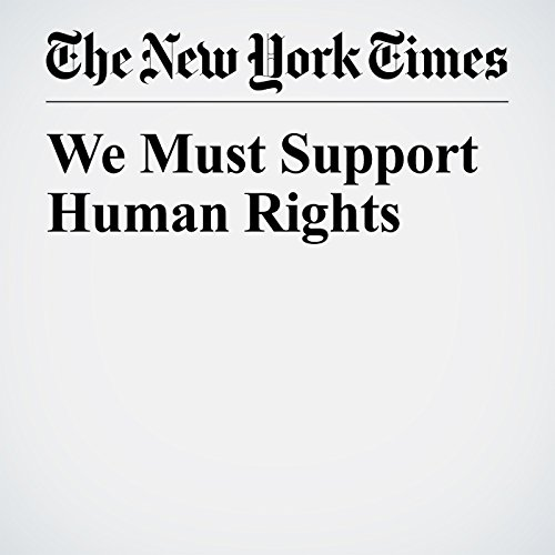 『We Must Support Human Rights』のカバーアート