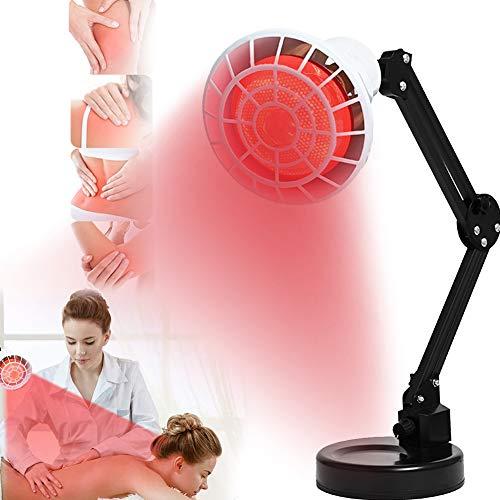 EFGSbed Rotlichtlampe Mit Ständer, 250W Infrarotlichtlampe, Beauty Lampe 360 ° Verstellbarer, Wärmepflegelampe LED-Lichttherapie-Lampen Für Haut-Und Schmerzlinderung