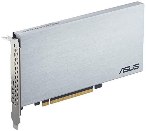 ASUS Hyper M.2 x16 Gen 4 (PCIe 4.0/3.0) - hasta cuatro dispositivos M.2 NVMe (2242/2260/2280/22110) hasta de 256 Gbps, compatible con RAID PCIe 4.0 NVMe de AMD TRX40/X570 y RAID sobre CPU de Intel