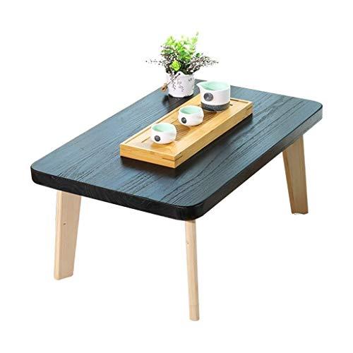Living Equipment Mesas auxiliares Mesas de centro Mesa auxiliar Mesa auxiliar de madera maciza simple Plataforma Mesa baja Mesa de té japonesa de madera de Paulownia creativa (Color: Beige Tamaño: