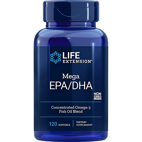 Life Extension, Mega EPA/DHA Omega-3, 120 Weichkapseln