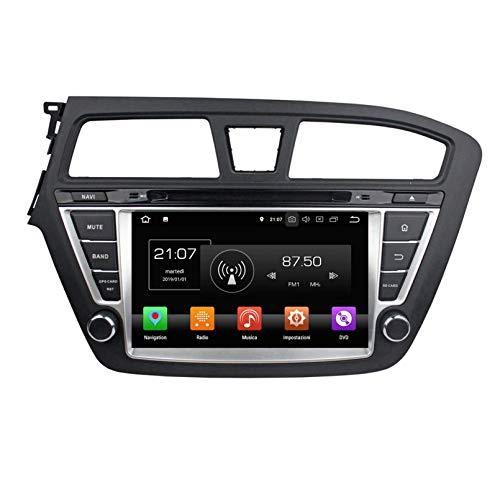 8 Pollici Touchscreen Lettore DVD Android 8.0 Autoradio per Hyundai I20(2014-2018) LHD, Navigazione GPS DAB+ Radio Bluetooth