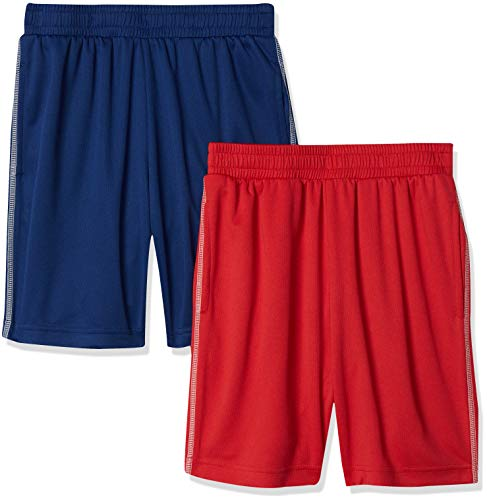 Amazon Essentials Boys' Active Performance Mesh Basketball Shorts