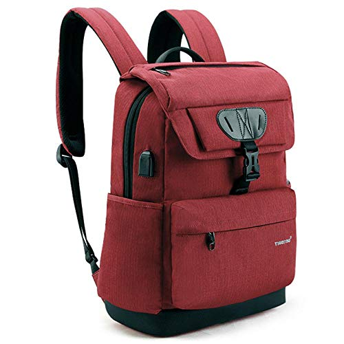 Backpack Rucksack Laptop Bag Fashion Women Red Usb Recharging School Bag Backpack For Teenagers Girls Anti Theft Female Male Mochila 15.6 Laptop Bag Red