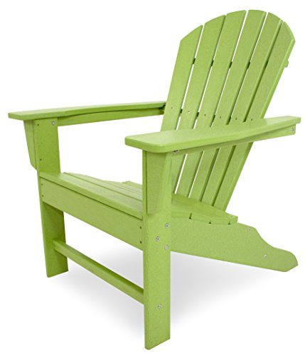 Polywood SBA15LI South Beach Adirondack Chair, Citron Vert