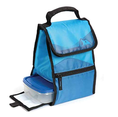 Arctic Zone Insulated Lunch Box With BPA Free Food Container (Blue-Black Trim)