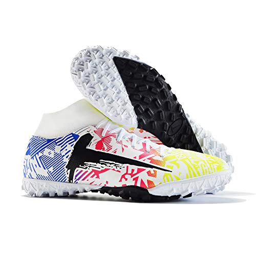 Niber Men's Athletic Hightop Football Turf Outdoor Indoor Comfortable Soccer Shoes Boys Football Student Cleats Sneaker Shoes
