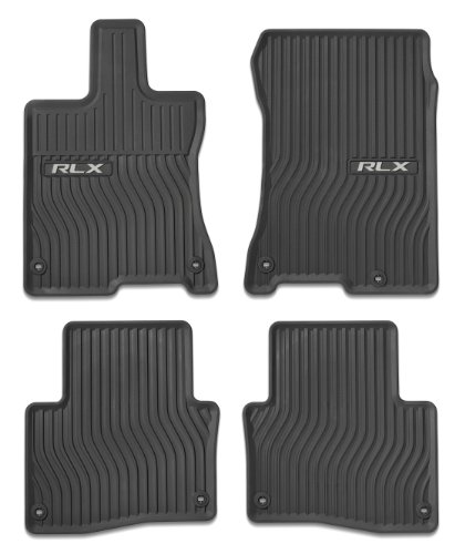 Acura RLX 2014 All-Season Floor MATS (Black) Genuine OEM Part#08P13-TY2-210
