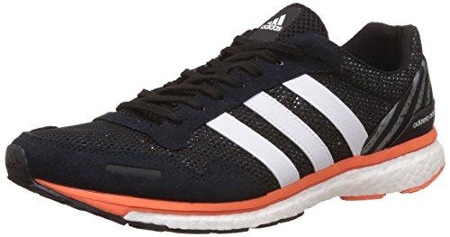 adidas Adizero Adios M, Zapatos Para Correr Para Hombre, Negro (Cblack/Ftwwht/Eneora), 46 2/3 EU
