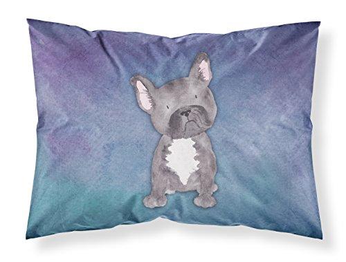Caroline's Treasures BB7395PILLOWCASE French Bulldog Watercolor Fabric Standard Pillowcase, Standard, Multicolor