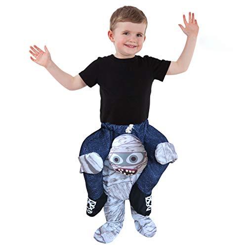 Disfraz de a cuestas Momia para niños pequeños con ilusión Montar en