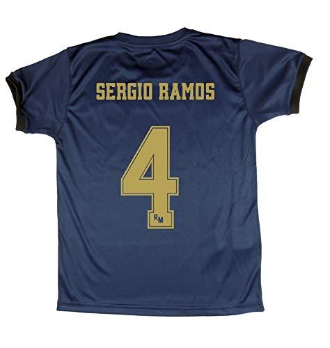 Real Madrid Trikot und Hose für Kinder Sergio Ramos offizielles Lizenzprodukt Saison 2019-2020, Farbe Weiß, Größe M