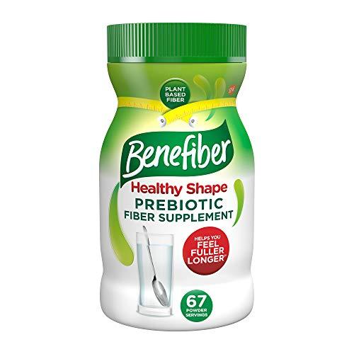 Benefiber Healthy Shape Fiber Supplement Powder for Digestive Health, Clear and Taste-Free, 33 Servings of Fiber Powder, 17.6 oz