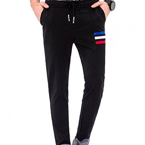 Paolian Pantalons de survêtement de Couleur Unie de la Mode des Hommes, Confortable et Simple Pieds Pantalons décontractés