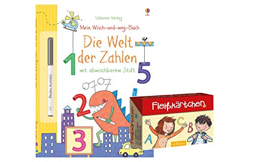 Preisvergleich Produktbild Mein Wisch-und-Weg-Buch: Die Welt der Zahlen: mit abwischbarem Stift (Taschenbuch) + Fleißkärtchen