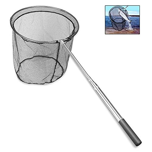 Pokzon Ultra-Leggero retino da Pesca a Scomparsa Rete da Pesca Pieghevole guadino con Manico telescopico, Lunghezza 165cm.