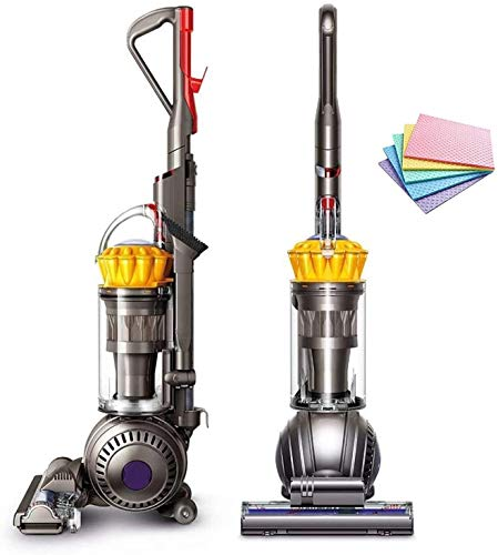 (RENEWED!) Dyson UP13 Ball Total Clean Upright Vacuum Self-Adjusting Cleaner Head Ball Technology Whole-Machine HEPA Filtration Instant Release Wand Hygienic Bin Emptying (Yellow) + iCarp Sponge Cloth