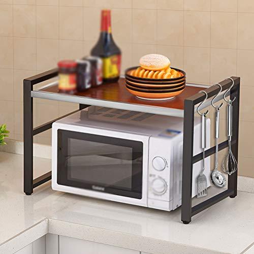 Kitchen furniture - Support de rangement pour la maison de support de four à micro-ondes de cuisine WXP (Couleur : NOIR)