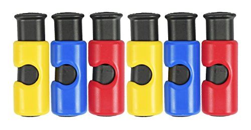 Set of 6 Bread Bag Clips - Cinch Non-Slip Grip EASY Squeeze & Lock - Features 3 Different Colors for Labeled Organizing!