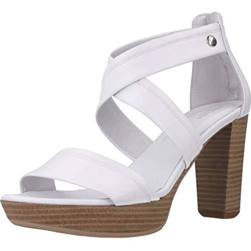 Sandalo da Donna NeroGiardini in Pelle Bianco E012210D. Scarpa dal Design Raffinato. Collezione Primavera Estate 2020. EU 39