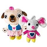 2 unids chip y patata juguetes de peluche perro y ratón animales de peluche juguetes de peluche muñeca suave de peluche para niños regalos 17/30 cm