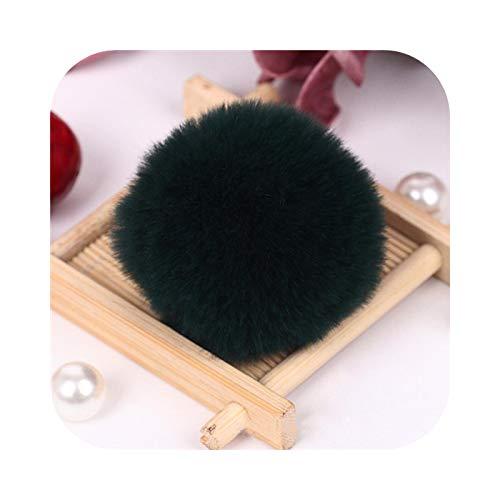 happy-Boutique 6 cm Soft Fluffy Pompom Pompom Sewing Craft DIY 60 mm Ball Home Decoration Clothes Hat – Black – 6 cm 1 Piece