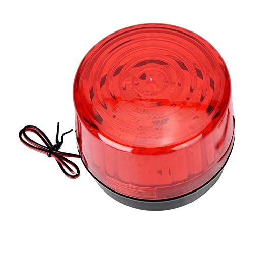 Luz de advertencia de emergencia,Precaución de emergencia Señal de peligro LED Luz estroboscópica 12/24 V CC Peligro impermeable Baliza intermitente Compatible con el sistema de alarma
